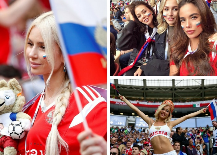 russian beautiful football fans