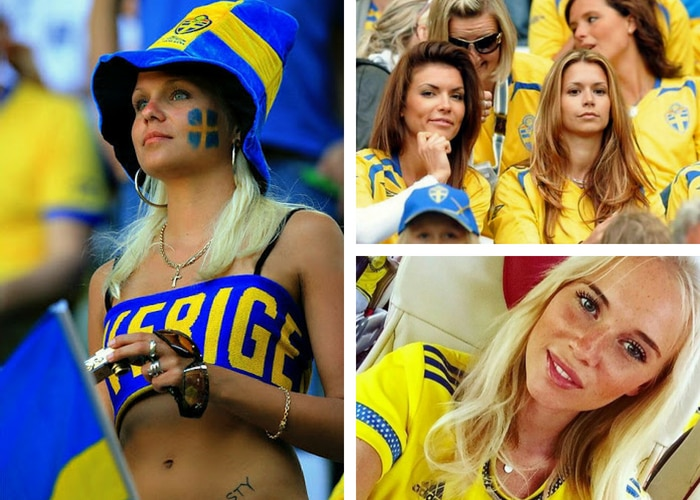 Swedish female football fan