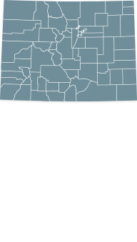 Map Colorado state