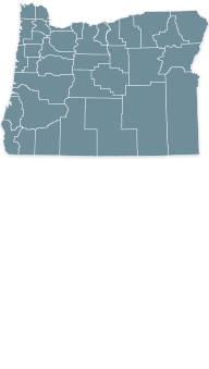Map Oregon state