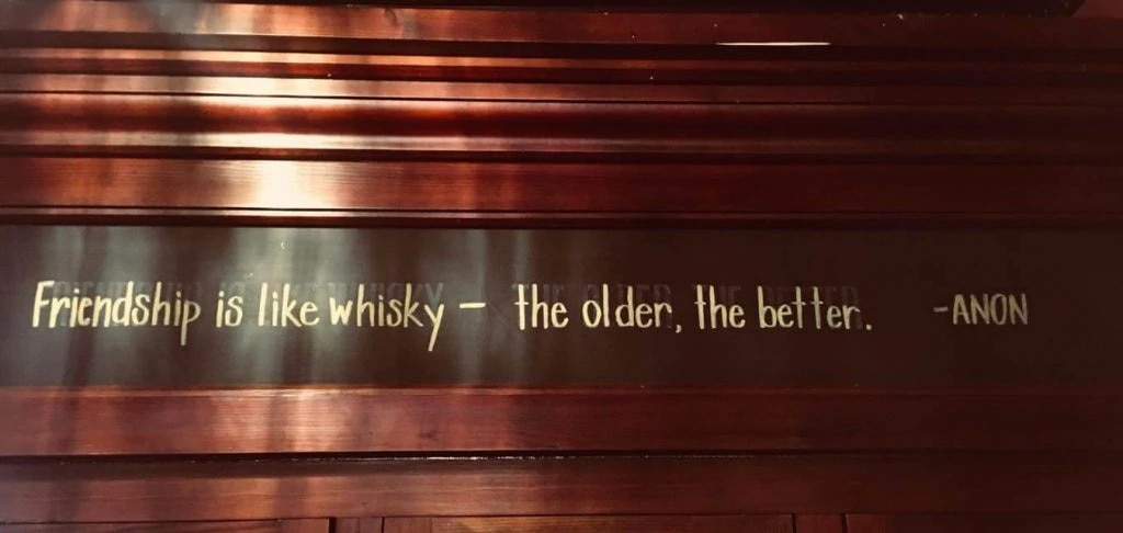 Quote on the wall in Barrel on High